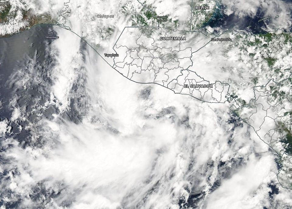 MODIS Imge of Tropical Cyclone Amanda