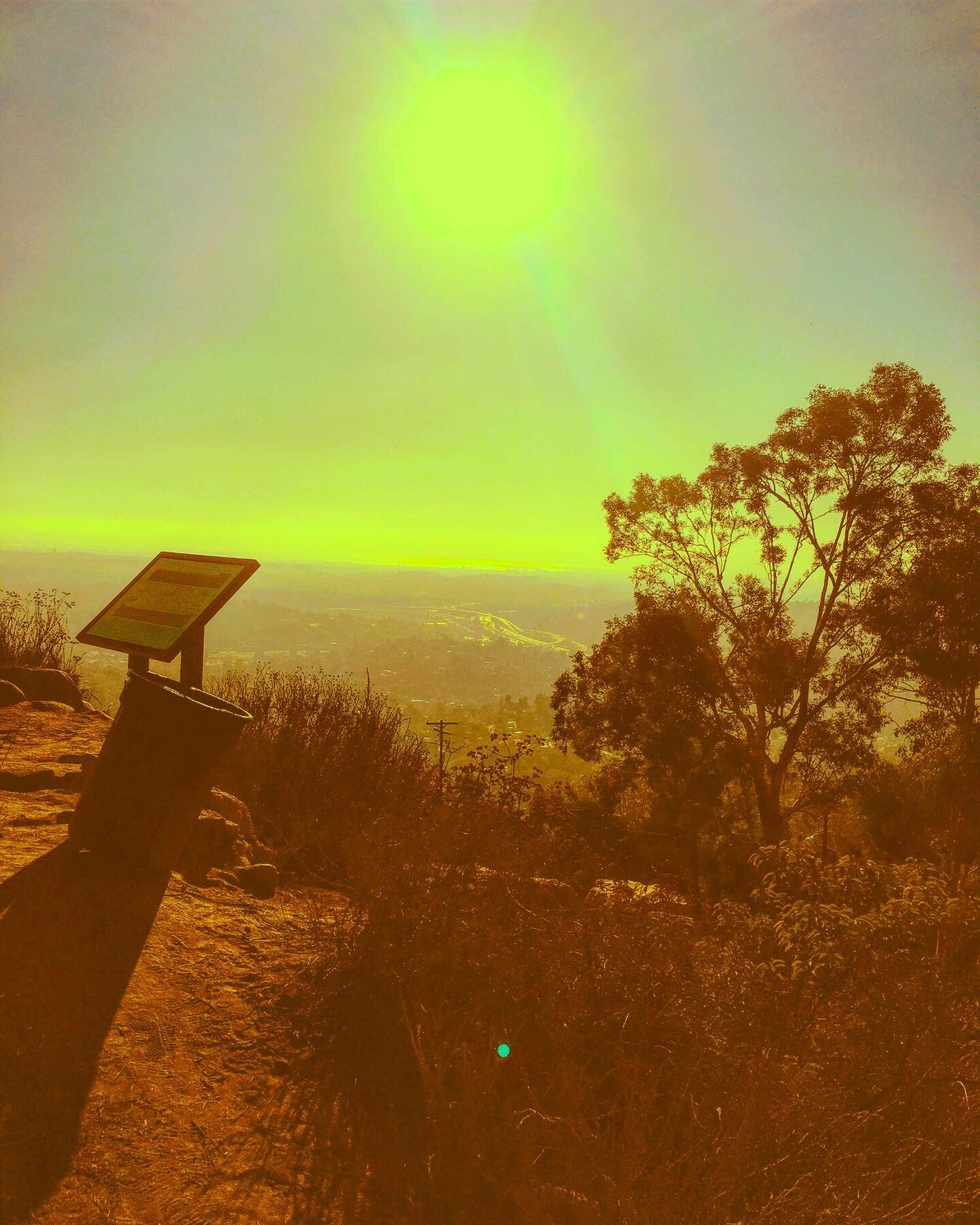 Mountain and sun