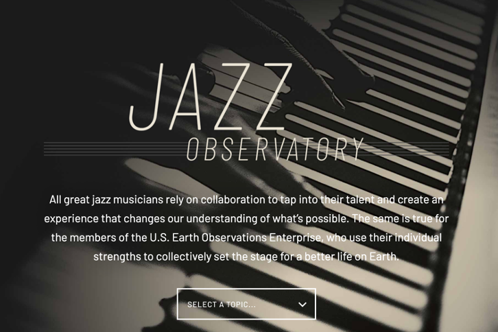 screenshot of the Jazz Observatory website