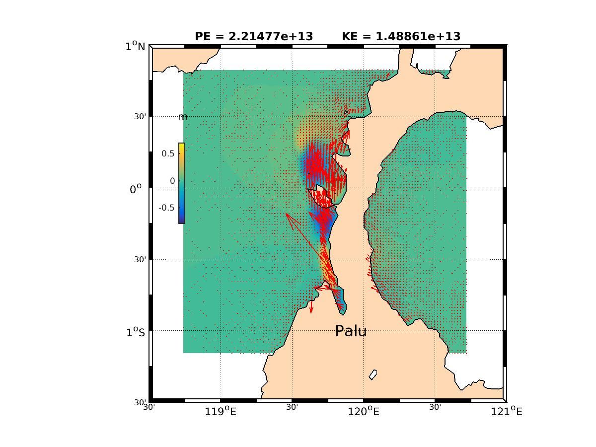Image of the Palu map