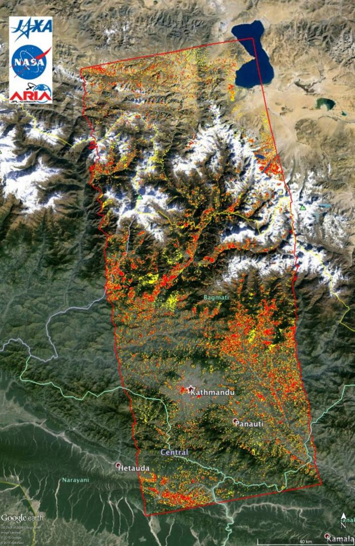 Image of damage map assists 2015 Gorkha, Nepal Disaster response