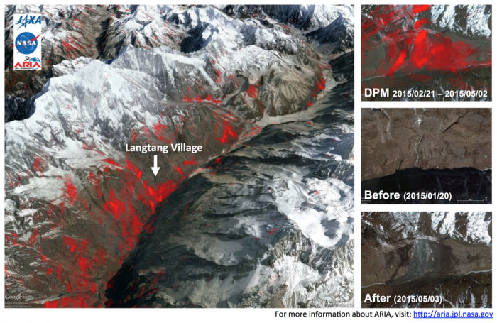 Image of Langtang Village - before and after the earthquake