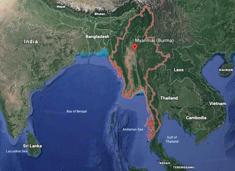 Map of Myamar