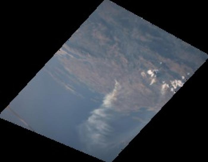 images was taken by astronauts onboard the International Space Station on August 1st, 2017, of the Montenegro wildfires in 2017