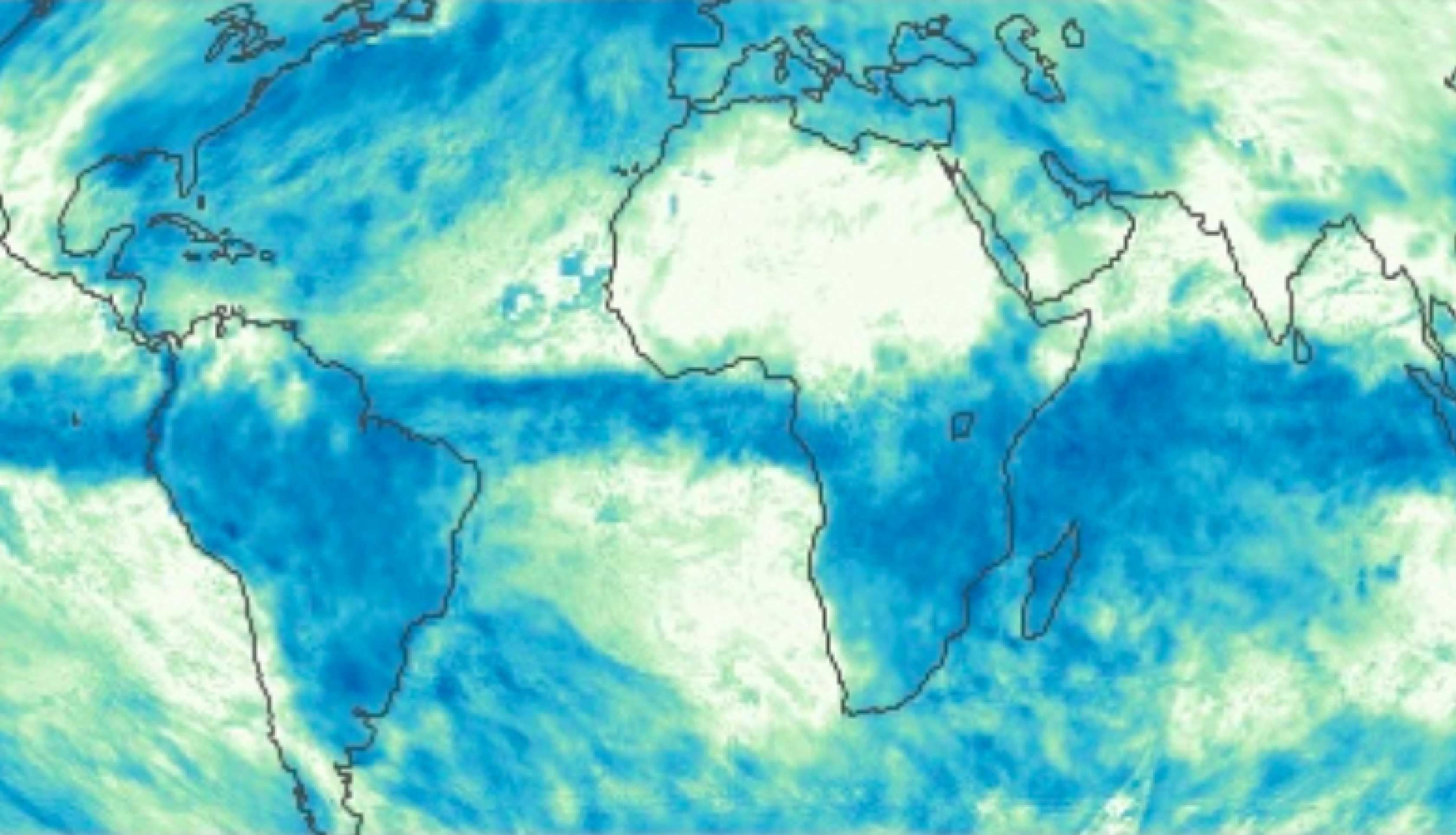 Scientific image of total rainfall globally