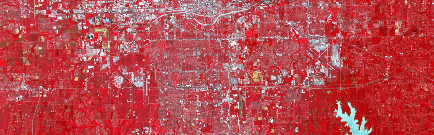 ASTER on NASA's Terra satellite observed the scar of the Newcastle-Moore tornado on the Oklahoma landscape
