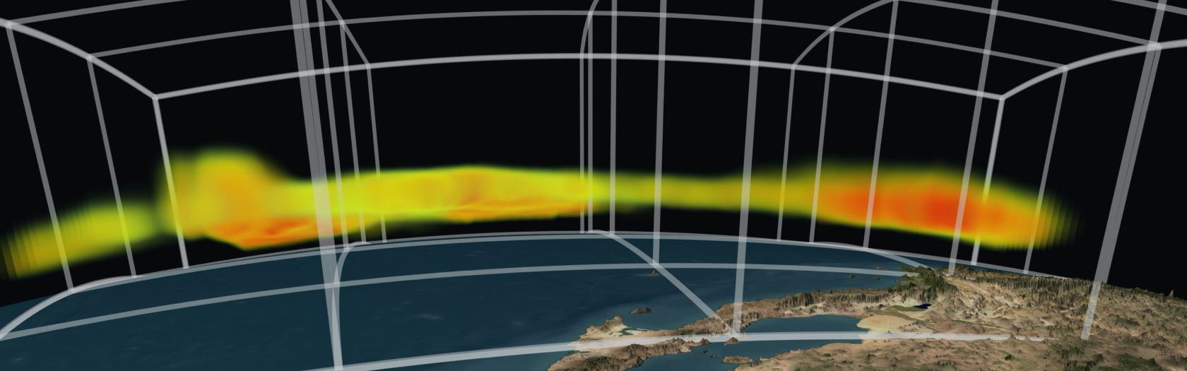 NASA's Atmospheric Infrared Sounder instrument reveals 3-D structure of a storm's water vapor content