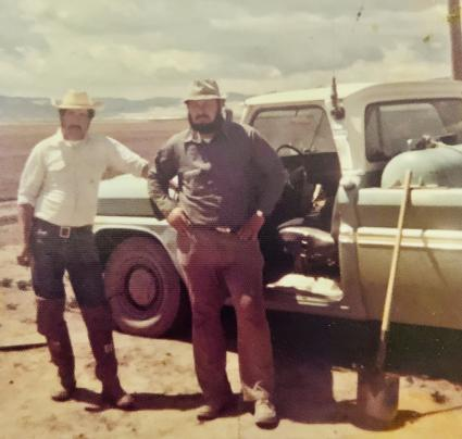 Photo of Alberto Guzman's father and friend
