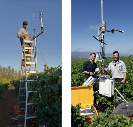 Photos of Alberto Guzman's scientific team in the field