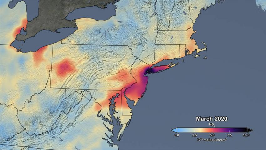 Graphic of air pollution in the US
