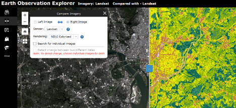 Screenshot of Earthdata