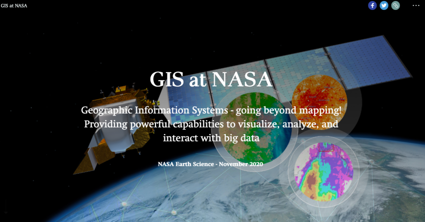 screenshot of GIS Story Map