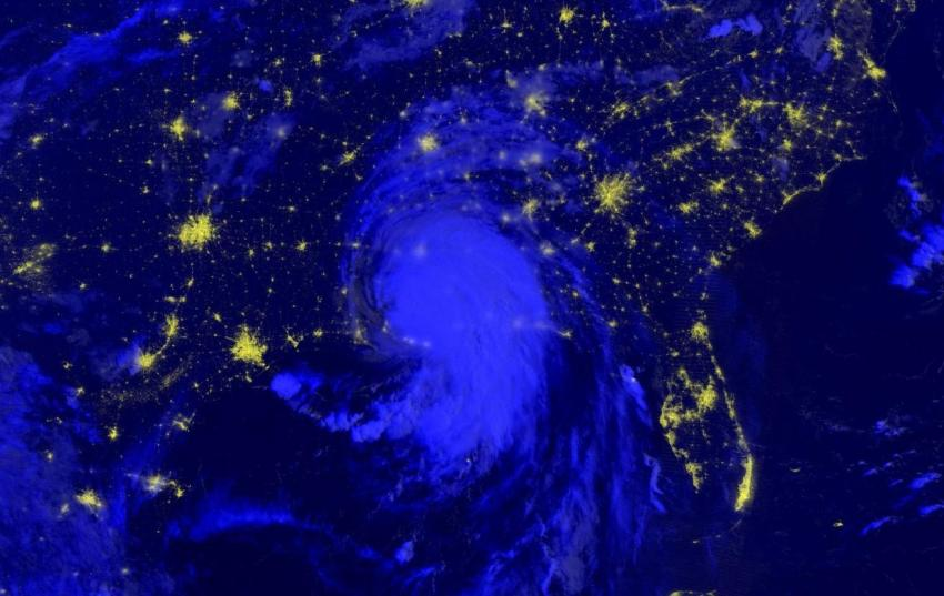 This day/night-band imagery of Hurricane Ida was captured by the VIIRS instrument onboard the NASA/NOAA Suomi-NPP satellite early the morning of Aug. 30, 2021. Day/night-band imagery is useful for identifying nighttime lights from cities, and can be used to monitor for loss of light which may indicate power outages in the wake of a disaster. Credits: NASA