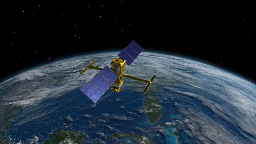 Artist's rendition of the SWOT satellite