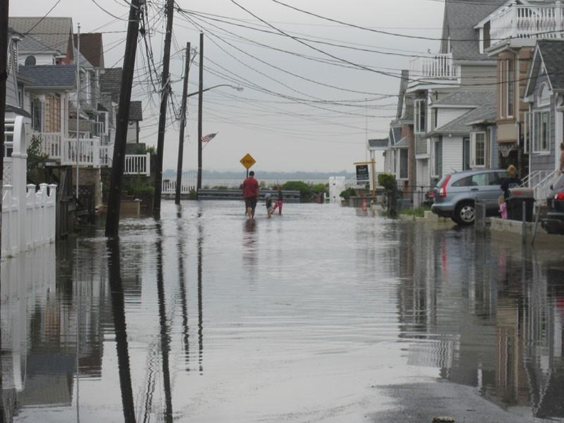 Street flooding in Broad Channel, Queens. (Credit: New York City Department of City Planning)