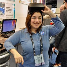 Photo of woman with VR headset