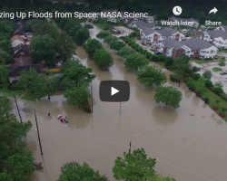 Screenshot of Sizing Up Floods from Space video