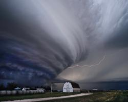Supercell thunderstorm over Nebraska