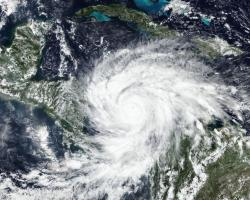 NOAA-20 satellite image of hurricane Iota